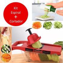 Cortador Legumes Kit Fatiador Juliene Ralador Espiral Espaguete Abobrinha - Penselarfun