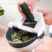 Cortador Legumes Verduras Manual Fatiador Escorredor Alimentos - Penselarfun