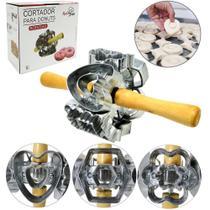 Cortador / molde para donuts de aluminio rotativo cabo de madeira 28x14cm de ø na caixa - TOP RIO