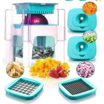 Cortador processador de alimentos multifuncional mandoline espiral fatiador triturador macarrao vegetais frutas legumes queijo - MAKEDA