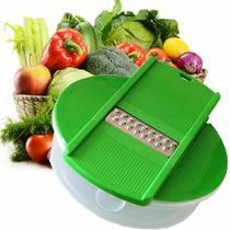 Cortador Ralador de Legumes Multifuncional CBRN02849 - Verde - Commerce Brasil