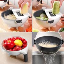 Cortador Ralador Escorredor Fatiador de Legumes Vegetais Salada Fruta Multifuncional 7 em 1 - Daybee