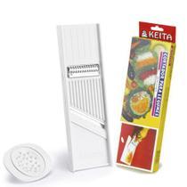 Cortador Ralador Fatiador De Legumes Dupla Face Com Protetor - Keita