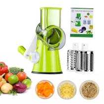 Cortador Ralador Fatiador Legumes 3 Laminas Verduras Alimentos -
