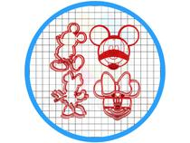 Cortadores Pasta Americana Cupcake Biscoitos Mickey e Minnie - Artbox3D