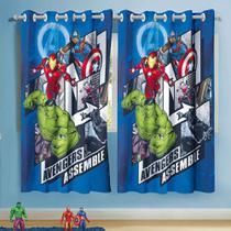 Cortina Avengers Assemble Os Vingadores 3,00 X 1,80 Lepper -