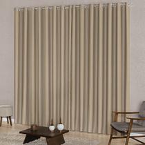 Cortina Blackout Tecido para Quarto ou Sala 4,00m x 2,50m Ilhós Indicada Varão Simples New Home - New Home Enxovais