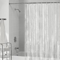 Cortina Box Banheiro PVC Transparente Flexivel   Presilhas para instalação medida 1,40x2,00 metros - Cikala
