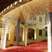 Cortina de LED com 3m largura x 2,50m altura, 500 LEDS, branco morno (tom levemente amarelado - Diversos