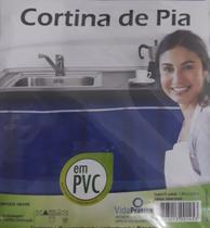 cortina de pia em pvc mais resistência envio sortido - Vp