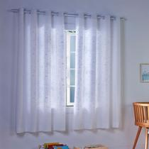 Cortina infantil londres basic estampada 2,80 x 1,80 aquario - santista