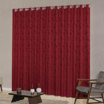 Cortina para Sala ou Quarto 4,00m x 2,50m Tecido Sofisticado Jacquard com Ilhós Cromado New Home - New Home Enxovais