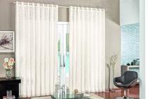 Cortina Para Sala ou Quarto Tecido Renda com Voal ou Voil Luxo 3,00 X 2,80 Metros Varao Normal Simples - Palha - Laura Magazine