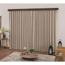Cortina para trilho suisso 4,00 x 2,60m Valence Blackout - bege - Mary Textil