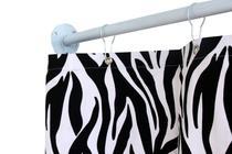 Cortina para Varão Comércio Tecido Brim 1,60x1,90 Roupa Estampada Zebra Trocador Loja Provador - Luci Comércio