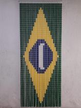 Cortina Porta Painel Plastica Americana Bandeira Brasil - Artlar