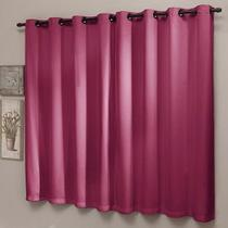 Cortina Sala 200 x 180 Pink Blackout Liso - Sultan