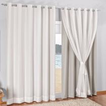 Cortina Top De Voil Com Blackout Pvc 3,50x2,50 Sala E Quarto - Ornato cortinas