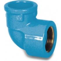 Cotovelo Azul Tigre Liso Rosca 25mm X 3/4   35217835 Kit C/20 -