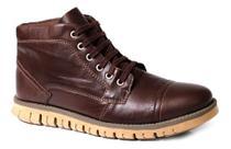 Coturno Bota Confortável Couro Tchwm Shoes Original -