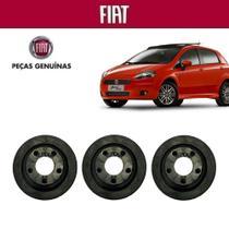 Coxim Borracha Filtro Ar Punto HLX 2012 Genuína Kit com 3 - Fiat