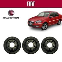 Coxim Borracha Filtro Ar Siena G4 2010 Original Kit com 3 - Fiat