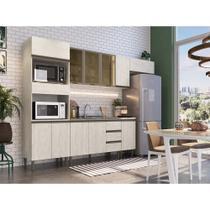 Cozinha Americana Completa Modulada Greta 6 peças 11 PT e 3 GV Crema - Megasul - IRM