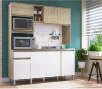 Cozinha Anis 7 Portas e 1 Gaveta CO2710 Malbec/Branco - Decibal -