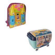 Cozinha Brinquedo Infantil Panela Fogãozinho Blocos De Montar Coloridos Interativos  - Cute Toys -