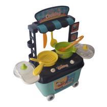 Cozinha Brinquedo Infantil Panela Frigideira Fogãozinho com Rodinhas - Cute Toys -