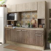 Cozinha Compacta 08 Portas 01 Gaveta Acácia/Freijó Cn630 - Decibal