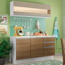 Cozinha Compacta 100% MDF Madesa Smart 120 cm Modulada Com Balcão e Tampo -