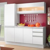Cozinha Compacta 100% MDF Madesa Smart 170 cm Modulada Com Armário, Balcão e Tampo -