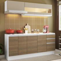Cozinha Compacta 100% MDF Madesa Smart 180 cm Modulada Com Balcão e Tampo -