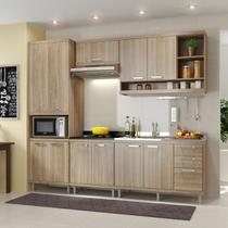 Cozinha Compacta 11 Portas Com Balcão Sem Pia 5808 Argila - Multimóveis