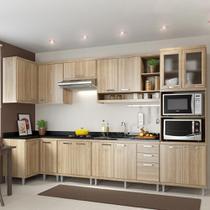 Cozinha Compacta 15 Portas 3 Gavetas para Pia 5830 Argila - Multimóveis