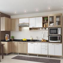 Cozinha Compacta 15 Portas 3 Gavetas para Pia 5830 Branco/Argila - Multimóveis