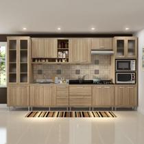 Cozinha Compacta 17 Portas para Pia e Cooktop 5806 Argila - Multi móveis