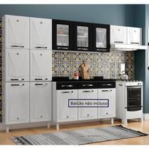 Cozinha Compacta 3 Peças 11 Portas Star New Telasul Branco/Preto -