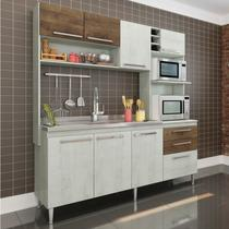 Cozinha Compacta 3 Peças 173 Blume Casamia (Não Acompanha Pia e Torneira) Snow/Dark -