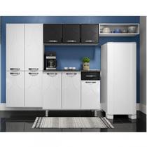 Cozinha Compacta 3 Peças sem Balcão Rubi Telasul Branco/Preto -