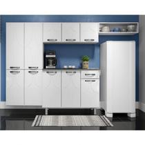 Cozinha Compacta 3 Peças sem Balcão Rubi Telasul Branco -