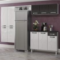 Cozinha Compacta 4 Peças 10 Portas Rubi Siena Móveis - Telasul
