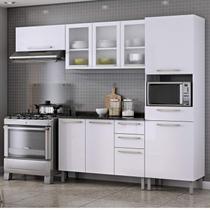 Cozinha Compacta 4 Peças com Balcão e Tampo Dandara Itatiaia Branco -