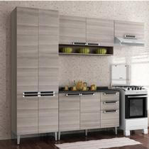 Cozinha Compacta 4 Peças com Balcão Jazz Itatiaia Coimbra Bege -
