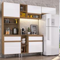 Cozinha Compacta 4 Peças Pimenta Decibal Móveis Naturalle/Branco -