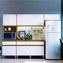 Cozinha Compacta 4 Peças Pimenta Decibal Naturalle/Branco -