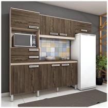 Cozinha Compacta 5 Peças com Balcão e Tampo B107 Briz Fendi/ Moka -