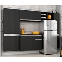Cozinha Compacta 5 Peças Liris Preto - Móveis arapongas