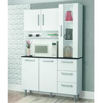 Cozinha Compacta 5 Portas com Prateleiras de Vidro Supremo Zanzini -